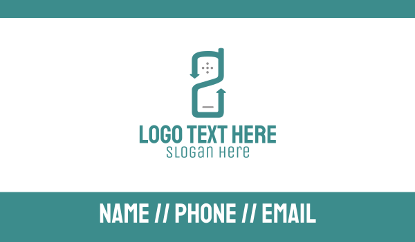 radio - Mobile Number Two Business card horizontal design