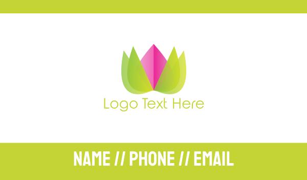 blossom - Lotus Flower Business card horizontal design
