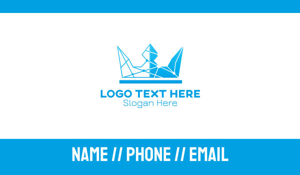lord - Sky Blue Crown Business card horizontal design