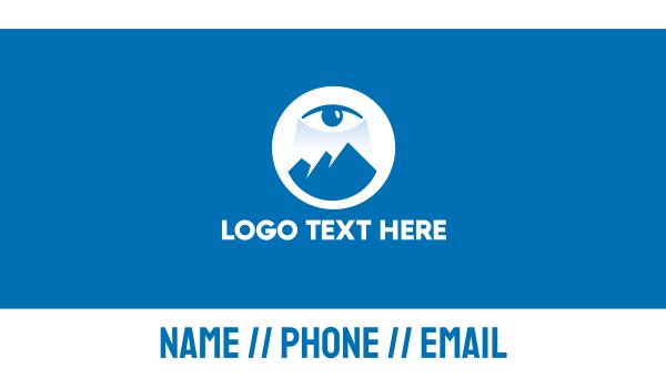 mystical - Mountain Eye Vision Business card horizontal design