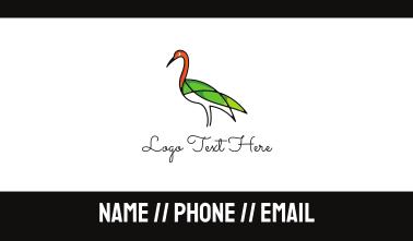 Green Crane Outline Business Card