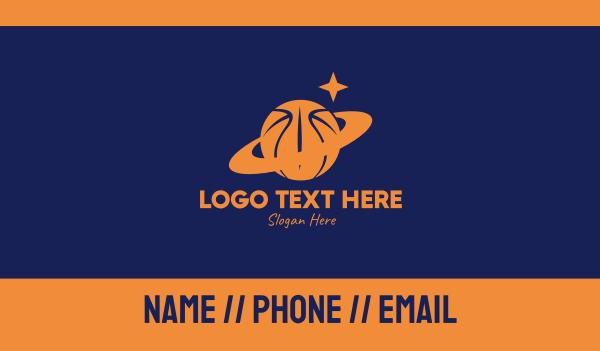 basketball equipment - Basketball Planet  Business card horizontal design
