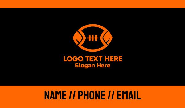 nfl - Orange Football Business card horizontal design