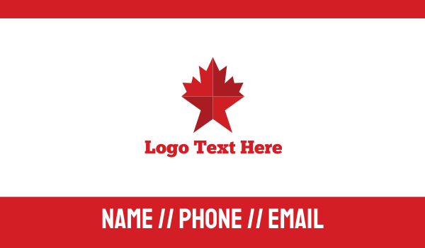 maple leaf - Maple Star Business card horizontal design