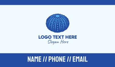 Blue Sea Urchin Business Card