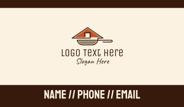 House Roof Frying Pan Business Card