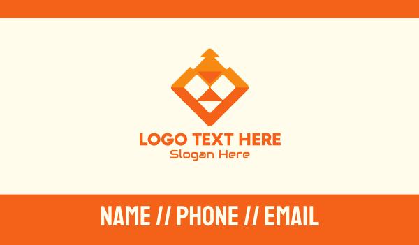cyberspace - Orange Lion Tech Business card horizontal design