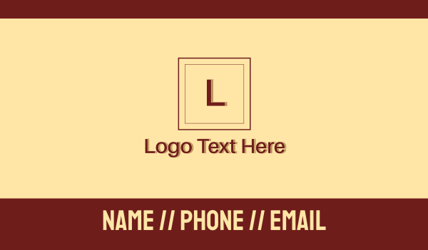formal - Red Law Firm Letter Business card horizontal design