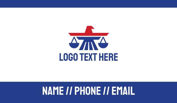 immigration - American Eagle Law Business card horizontal design
