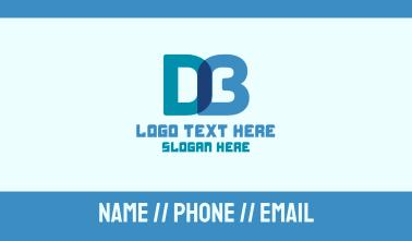 Digital D & B Monogram Business Card