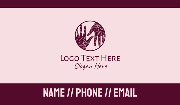 gesture - Flower Henna Hands  Business card horizontal design