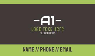 A1 Text Business Card