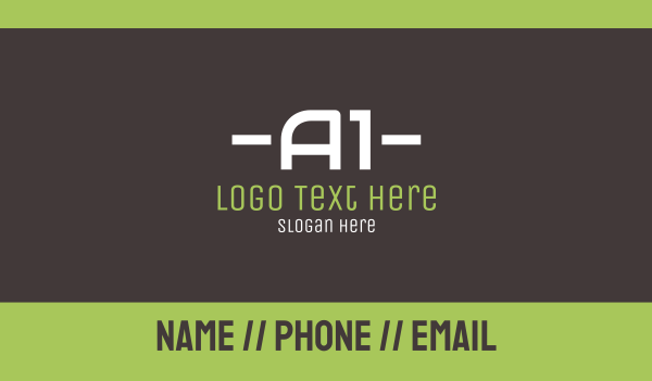 limo - A1 Text Business card horizontal design