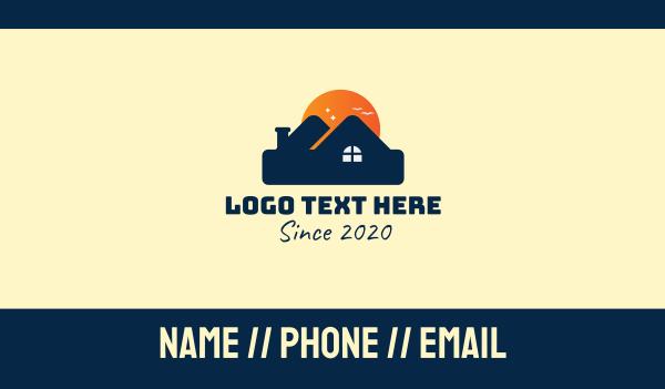 structure - Real Estate Mansion Business card horizontal design