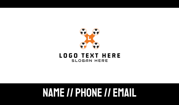 nuclear - Radioactive Drone Business card horizontal design