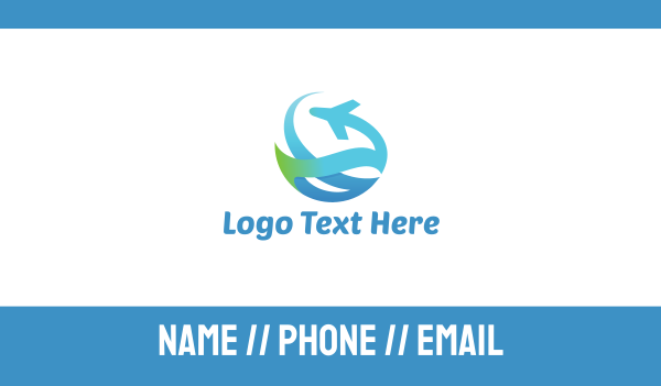 flyer - Abstract Plane Business card horizontal design