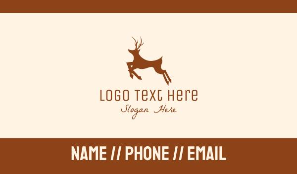 reindeer - Brown Deer Business card horizontal design