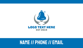 Blue Grey Bell Business Card