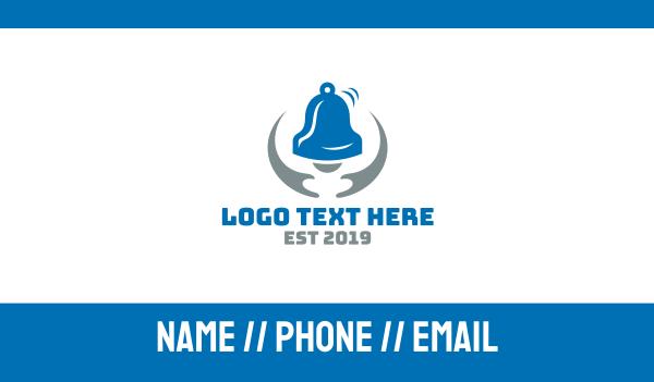 choir - Blue Grey Bell Business card horizontal design