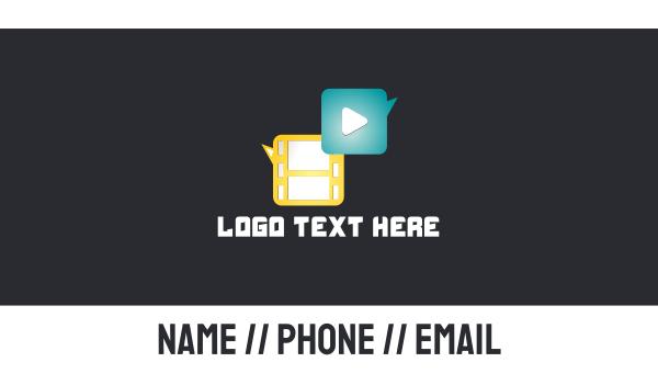 news - Media Player Business card horizontal design