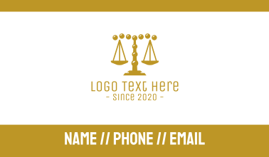 Gold Pebble Law Firm Business Card