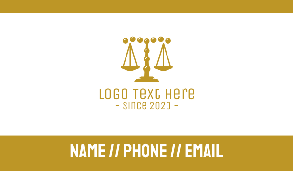 government - Gold Pebble Law Firm Business card horizontal design