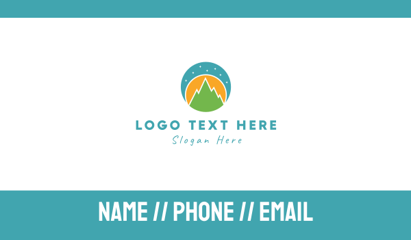 hill - Night Landscape Business card horizontal design