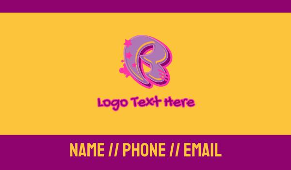 record producer - Graffiti Star Letter B Business card horizontal design