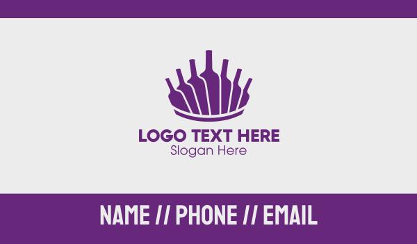 water bottles - Purple Wine Bottles Business card horizontal design