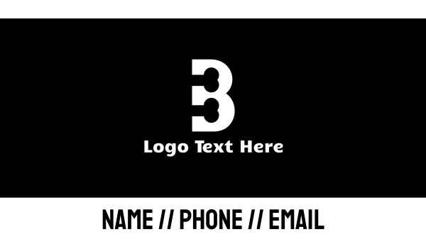 bone - Black & White Bone Letter B Business card horizontal design