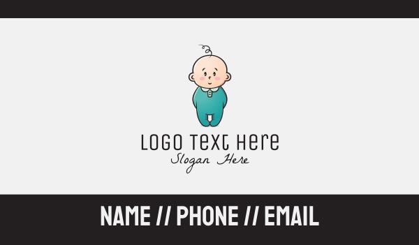 baby girl - Innocent Baby Business card horizontal design