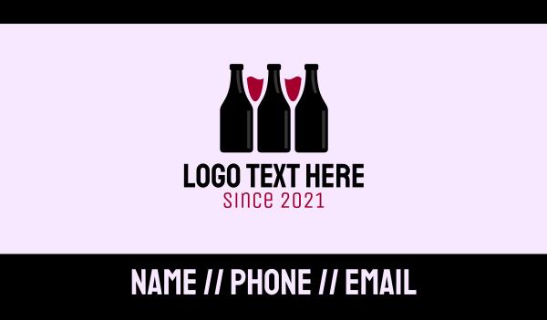 distiller - Wine Bottle Glass Liquor Business card horizontal design