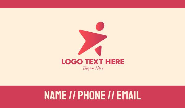 talent - Gradient Celebrity Superstar Business card horizontal design
