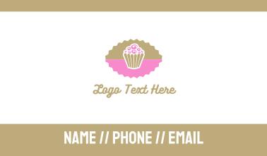 Pink Chocolate Cupcake Business Card