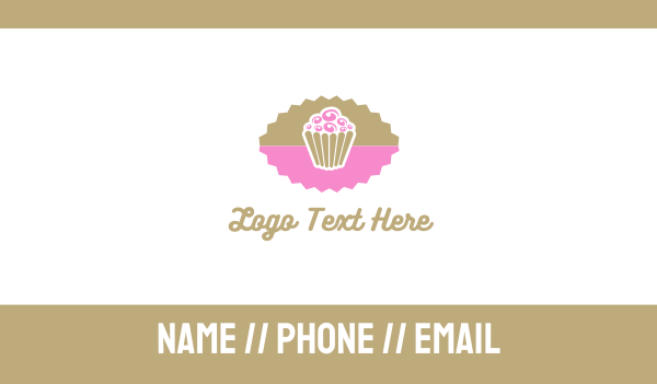 lollipop - Pink Chocolate Cupcake Business card horizontal design