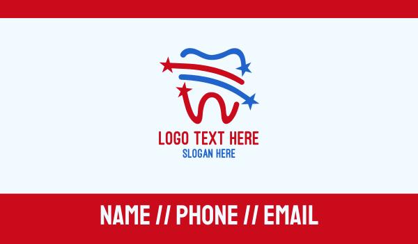 dental - American Dental Business card horizontal design
