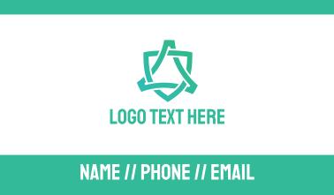Elegant Golden Wordmark Business Card