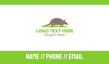Baby Armadillo Business Card