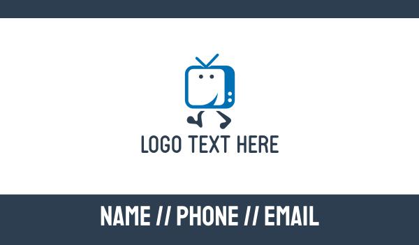 iptv - Happy Television  Business card horizontal design