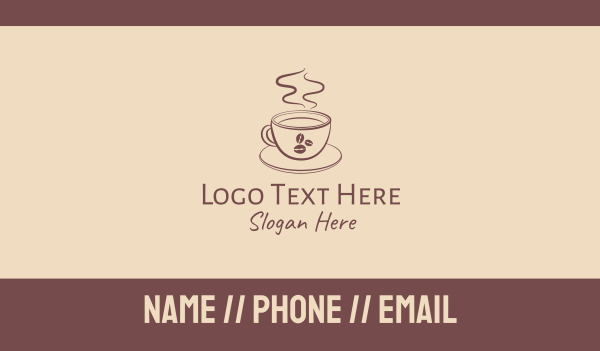 theme cafe - Minimalist Coffee Bean Shop  Business card horizontal design