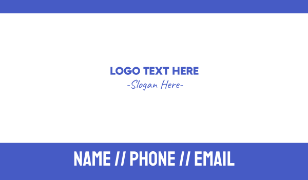 hipster - Casual Blue Business card horizontal design