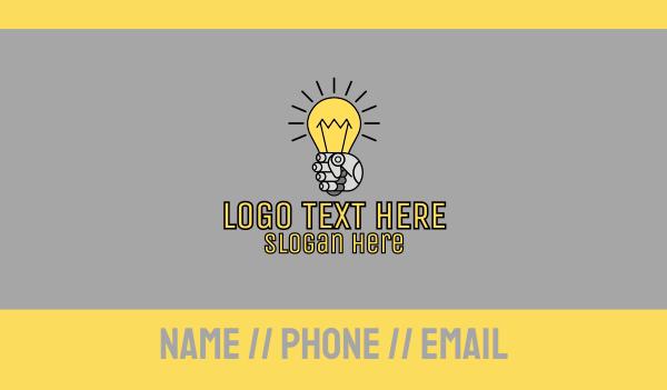 Robot Light Lightbulb Business Card