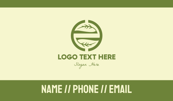 deco - Branch Circle Business card horizontal design