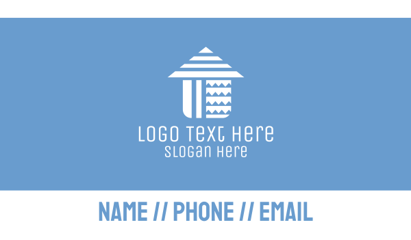 home accessories - Home Patterns Business card horizontal design