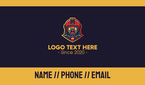 fire station - Fire Rescue Team Business card horizontal design