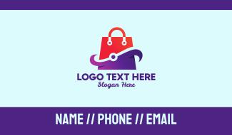 Online Shopping Website  Business Card