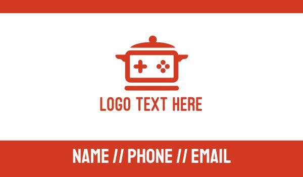 playstation - Cooking Pot Game Business card horizontal design