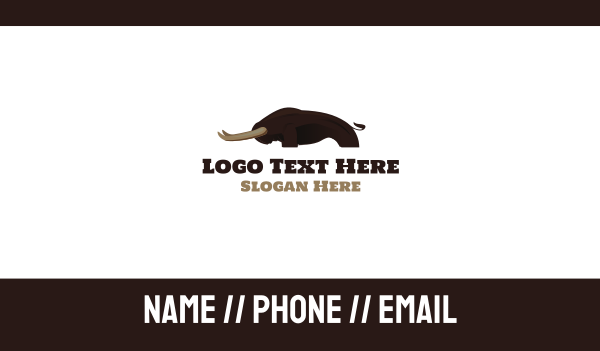 longhorn - Strong Bison Business card horizontal design