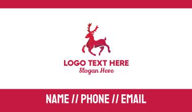 Red Reindeer Business Card