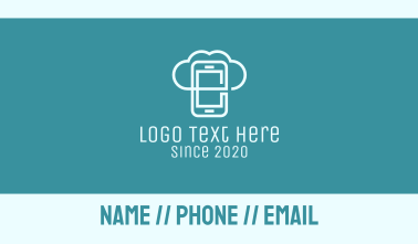 Mobile Cloud Storage Business Card